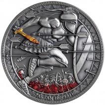 現貨 - 2019喀麥隆-傳奇勇士系列-斯巴達重裝步兵-3盎司銀幣