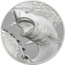 現貨 - 2017帛琉-咬痕系列-鯊-1盎司銀幣