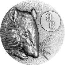 現貨 - 2020紐埃-96系列-生肖-鼠年-2盎司銀幣