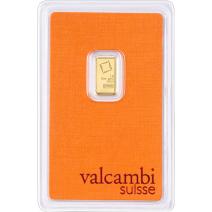 現貨 - Valcambi-1克金條(卡裝)