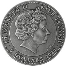 現貨 - 2020紐埃-琥珀-聖甲蟲-2盎司銀幣