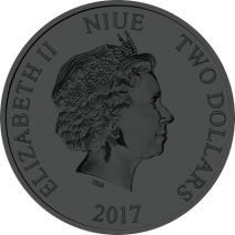 現貨 - 2017紐埃-迪士尼-汽船威利號-1盎司銀幣-萬聖節版-橘