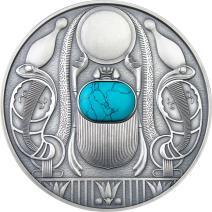 現貨 - 2021紐埃-聖甲蟲-綠松石-50克銀幣