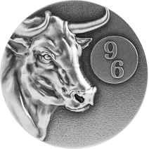 現貨 - 2021紐埃-96系列-生肖-牛年-2盎司銀幣+5克銀鈔
