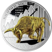 預購(確定有貨) - 2021喀麥隆-牛年-時間取勝-1盎司銀幣