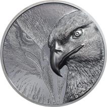現貨 - 2020蒙古-雄偉的鷹-黑色版-2盎司銀幣