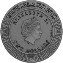 現貨 - 2018紐埃-半神人系列-珀爾修斯-2盎司銀幣