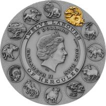 現貨 - 2019紐埃-海格力斯的十二項英雄偉績-九頭蛇海德拉-2盎司銀幣