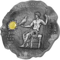 現貨 - 2020喀麥隆-玉石系列(貓眼石)-亞歷山大大帝-16.55克銀幣