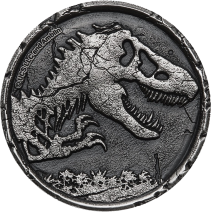 預購(確定有貨) - 2021紐埃-侏羅紀世界-2盎司銀幣