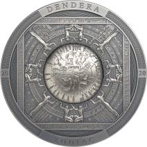 現貨 - 2020庫克群島-考古與象徵主義系列-埃及-丹達臘黃道帶-3盎司銀幣