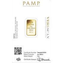 現貨(全台最低價)(限量) - PAMP-財富女神-5克金條(贈絨布盒+提袋)