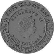 現貨 - 2019紐埃-憤怒之神系列-阿努比斯-2盎司銀幣