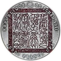 現貨 - 2021查德-三英戰呂布-(2盎銀+11.5盎司銅)銀幣