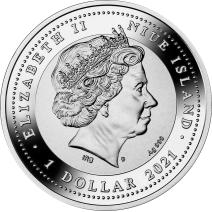 現貨 - 2021紐埃-生肖-牛年-17.5克銀幣