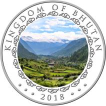 現貨 - 2018不丹-生肖-狗年-高浮雕-1盎司銀幣(精鑄)