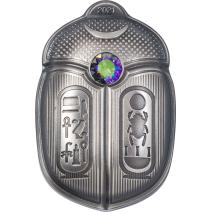預購(確定有貨) - 2021帛琉-圖坦卡門-聖甲蟲-造型-1盎司銀幣