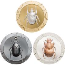 現貨 - 2017庫克群島-聖甲蟲選擇II-1盎司銀幣-3枚組
