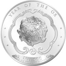 現貨 - 2021不丹-生肖-牛年-高浮雕-1盎司銀幣(精鑄)