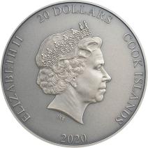 現貨 - 2020庫克群島-亞洲神話系列-鍾馗(鍍金版)-3盎司銀幣