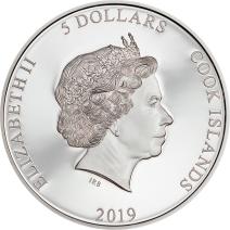 現貨 - 2019庫克群島-多彩人生系列-菲律賓鷹-1盎司銀幣
