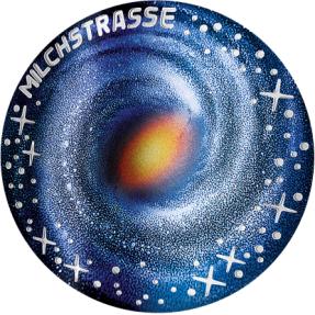 預購(確定有貨) - 2021奧地利-銀河系-曲面-20.74克銀幣(含原廠收藏盒)