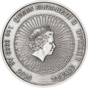 現貨 - 2019吐瓦魯-玉-笑佛-1盎司銀幣