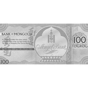 預購(確定有貨) - 2022蒙古-生肖-虎年-5克銀鈔