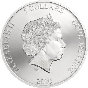 預購(確定有貨) - 2020庫克群島-多彩人生系列-變色龍-1盎司銀幣