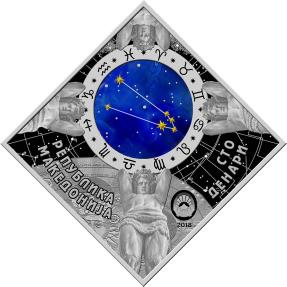 現貨 - 2018馬其頓-星座系列-金牛座-23.3克銀幣