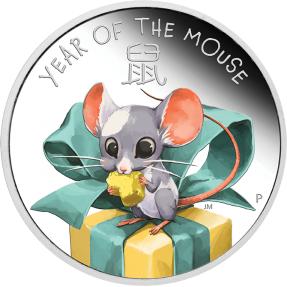 預購(限已確認者下單) - 2020吐瓦魯-生肖-寶貝鼠-1/2盎司銀幣