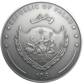 現貨 - 2013帛琉-神話人物系列-狼人-2盎司銀幣(首枚)