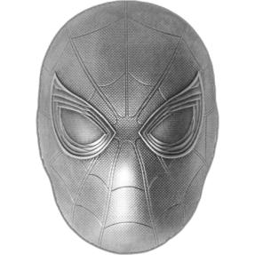 現貨 - 2019斐濟-Marvel系列-蜘蛛人-面具造型-2盎司銀幣