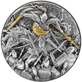 現貨 - 2021查德-長坂坡之戰-趙雲-(2盎銀+11.5盎司銅)銀幣