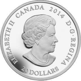 現貨 - 2014加拿大-幻想楓葉-綠-1盎司銀幣