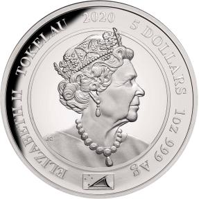 預購(限已確認者下單) - 2020托克勞-伊莉莎白二世-皇家肖像-1盎司銀幣