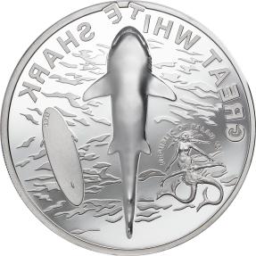 現貨 - 2021帛琉-大白鯊-1盎司銀幣