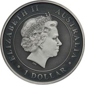 現貨 - 2015澳洲伯斯-無尾熊-1盎司銀幣-仿古版