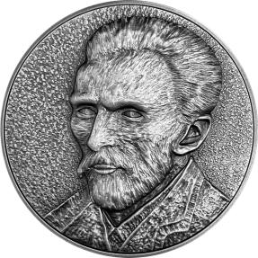 預購(確定有貨) - 2020紐埃-梵谷系列-梵谷自畫像-(2盎司銀+11.5盎司銅)銀幣