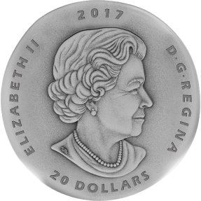 現貨 - 2017加拿大-化石系列-三葉蟲-1盎司銀幣
