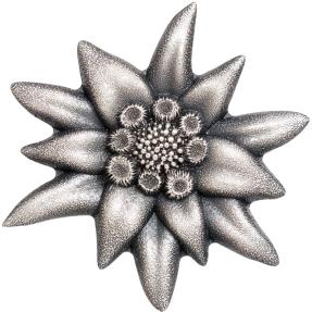 現貨 - 2019蒙古-山之星系列-雪絨花-造型-1盎司銀幣