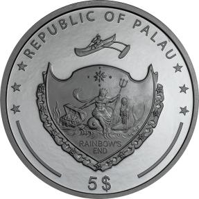 現貨 - 2021帛琉-1001夜-神燈-1盎司銀幣