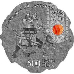 現貨 - 2020喀麥隆-玉石系列(精美石頭)-軍事指揮官-漢尼拔-16.7克銀幣