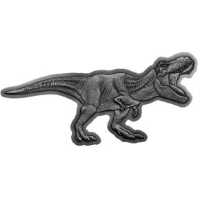 現貨 - 2021紐埃-侏羅紀世界-暴龍-造型-2盎司銀幣