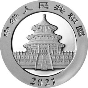 現貨 - 2021中國-熊貓-30克銀幣(普鑄)