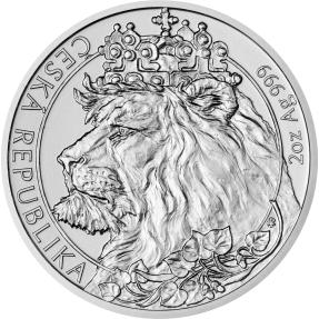 預購(確定有貨) - 2021紐埃-捷克獅-2盎司銀幣(普鑄)(含塑殼)