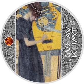 現貨 - 2020喀麥隆-古斯塔夫·克林姆-金色藝術-音樂-17.5克銀幣