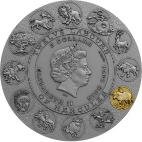 預購(確定有貨) - 2020紐埃-海格力斯的十二項英雄偉績-清洗奧革阿斯的牛棚-2盎司銀幣