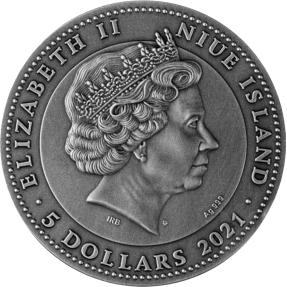 現貨 - 2021紐埃-紅寶石-聖甲蟲-2盎司銀幣