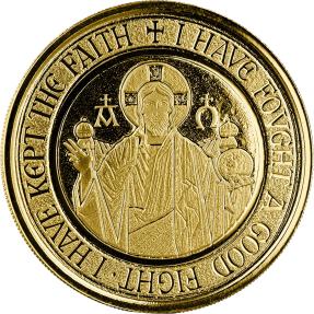 預購(限已確認者下單) - 2021薩摩亞-耶穌收藏系列-阿耳法和敖默加(Α & Ω)符號-1盎司金幣